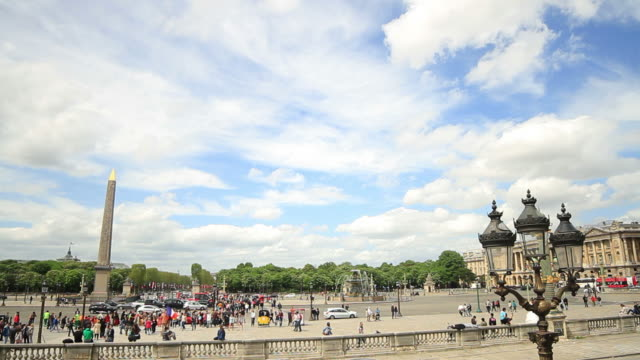Time lapse of Place de la Concorde