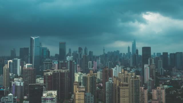 tidsfördröjning för regn i shanghai kina - blöt bildbanksvideor och videomaterial från bakom kulisserna