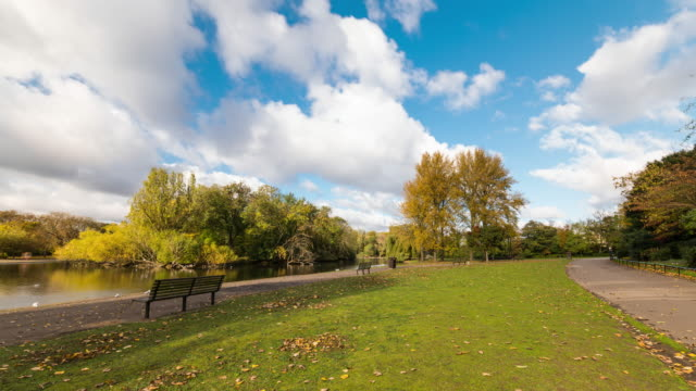 LONDON - Time Lapse of Regent's Park during a day in autumn