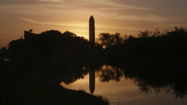Time lapse of Rocket at Sunrise