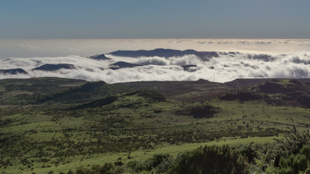 time lapse of rolling clouds above madeira - madeira stock videos and b-roll footage
