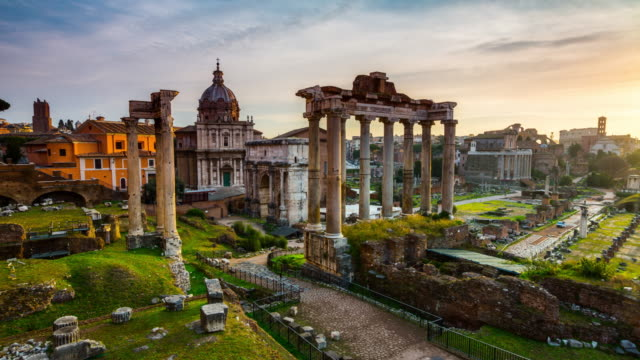 stockvideo's en b-roll-footage met time-lapse van het forum romanum in rome, italië - puin