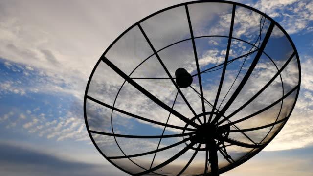 tidsfördröjning för parabolantenn - parabolantenn bildbanksvideor och videomaterial från bakom kulisserna