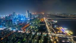 Time lapse of Seoul City Skyline,South Korea.