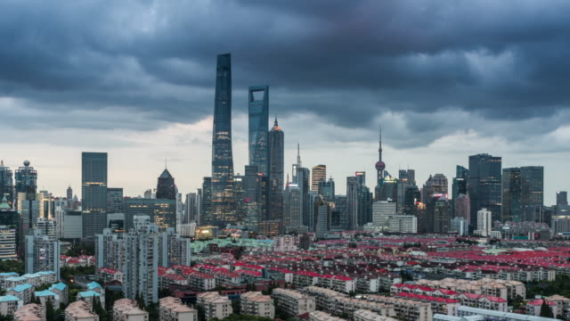 Time Lapse Of Shanghai At Dusk