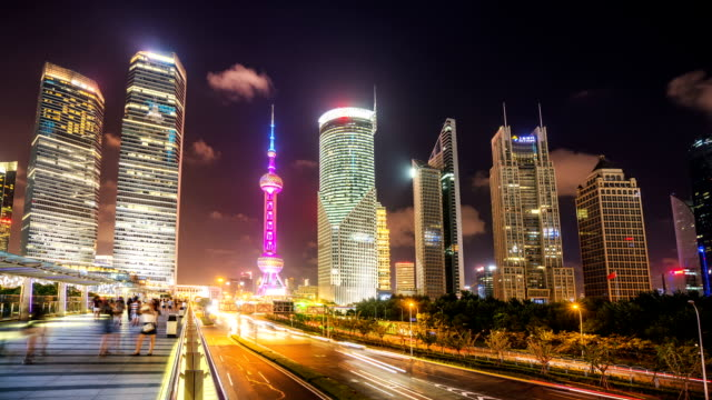 Tidsinställd Shanghai dag till natt övergång