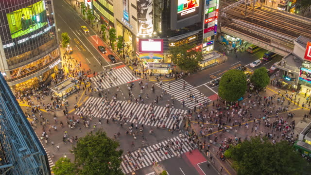 time lapse of Shibuya crossing in Tokyo