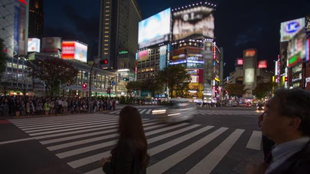 Time lapse of Shibuya crossing