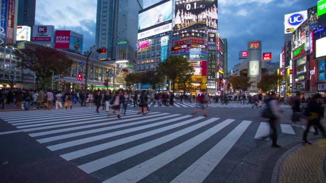Time-lapse van Shibuya kruising