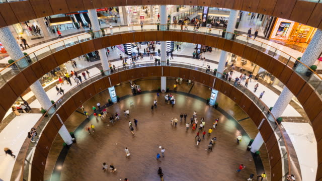 Time Lapse of shoppers at Dubai Mall