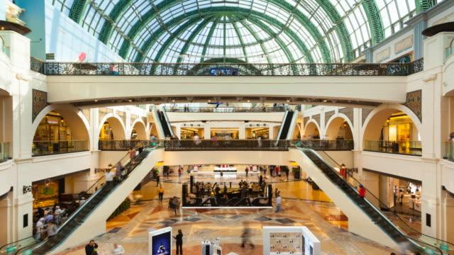 Time Lapse of shoppers at Emirates Mall Dubai