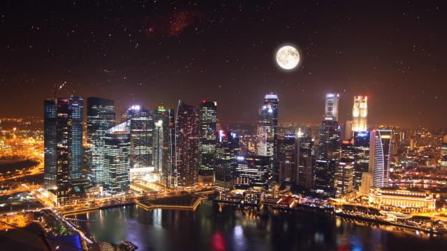 Zeitraffer von Singapur