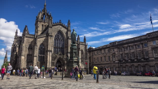 Time Lapse of St Giles Cathedral, Edinburgh - Time Lapse