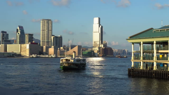 stockvideo's en b-roll-footage met time lapse of star ferry in hong kong - star ferry