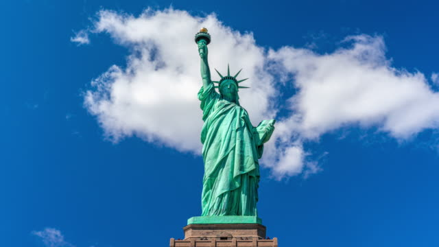 time lapse of statue of liberty - statue of liberty new york city stock videos & royalty-free footage