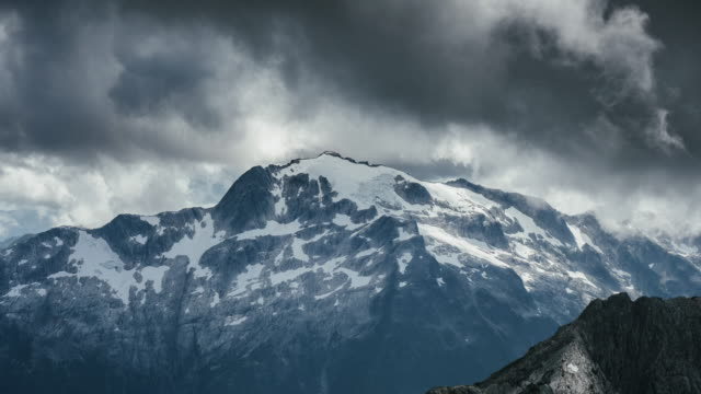 time lapse of storm clouds roll passed british columbia's coast mountains shot in 4k - squamish stock videos & royalty-free footage