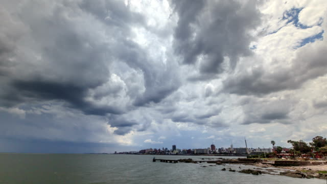 Time lapse of storm in Montevideo, Uruguay