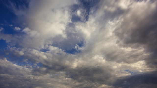 time lapse of stratocumulus clouds - stratocumulus stock videos and b-roll footage