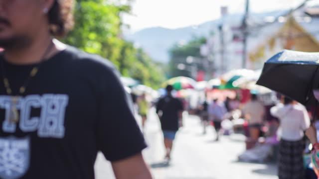 Time lapse of street market