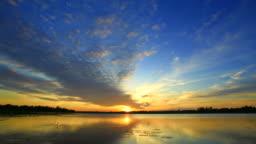 Time lapse of sunrise