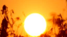 Time lapse of sunrise with big sun
