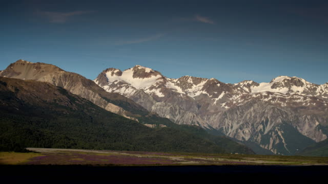 Time Lapse of sunrise with mountain at arthur's pass national park , canterbury , new zealand