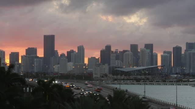 time lapse of sunset at miami, florida - miami stock videos & royalty-free footage