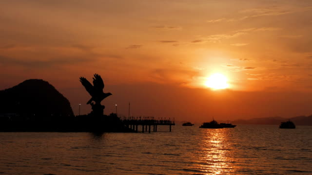 time lapse of sunset in langkawi - langkawi stock videos and b-roll footage