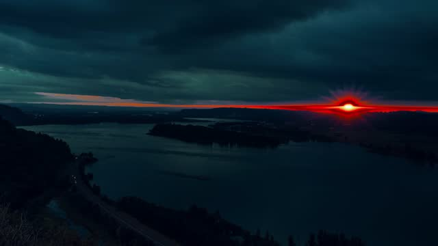 time lapse of sunset on the columbia river gorge, east of portland, oregon - oregon us state stock videos & royalty-free footage