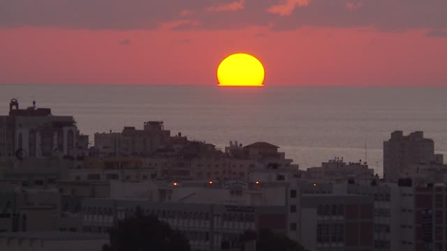 time lapse of sunset over gaza strip - gaza city stock videos & royalty-free footage