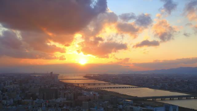 時間の経過の夕日 - 薄明かり点の映像素材/bロール