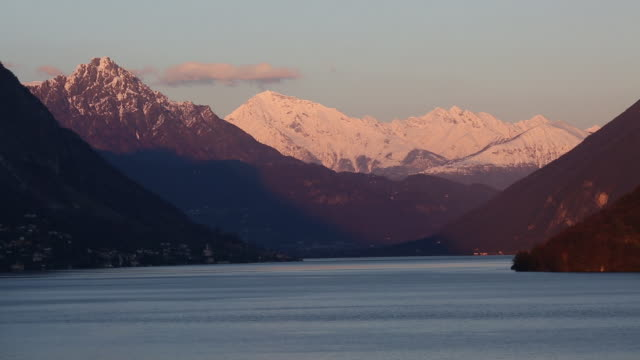 Time Lapse of sunsetting over Lake Lugano