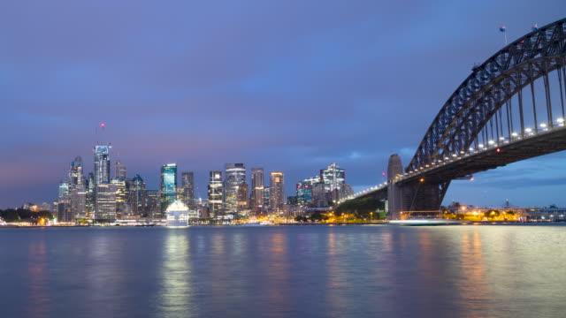 time lapse of sydney skyline, australia - panoramic stock videos & royalty-free footage