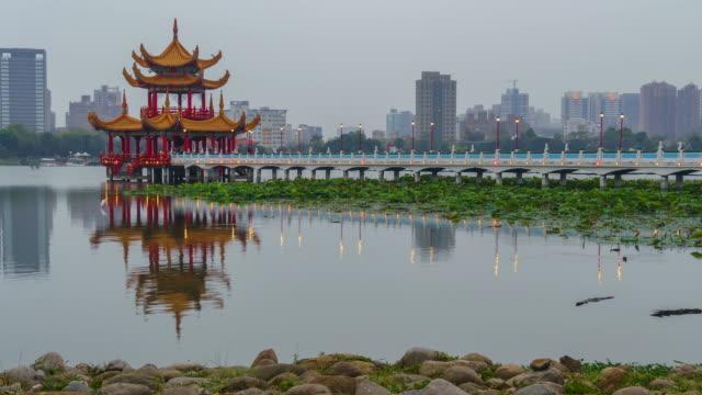 4 k サンセット トワイライト中台湾都市景観の時間の経過 - 台北市点の映像素材/bロール