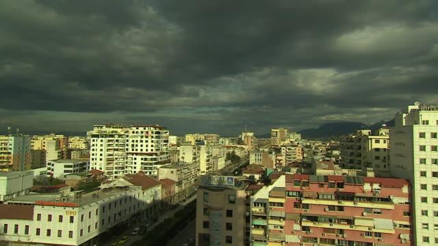 time lapse of the albanian capital of tirana - tirana stock videos & royalty-free footage