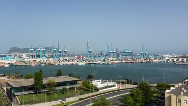 ALGECIRAS TL: Time Lapse of the Algeciras port near Gibraltar in Spain
