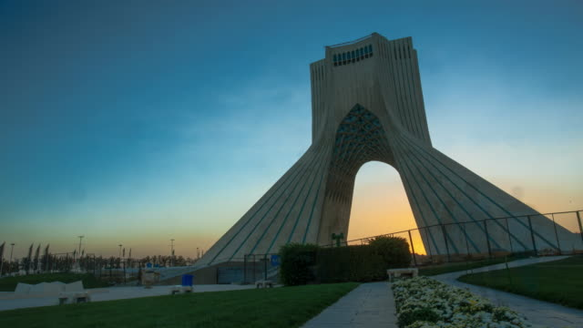 a time lapse of the azadi tower in tehran, iran. - david ewing stock videos & royalty-free footage