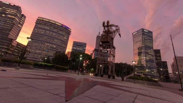 time lapse of the catalinas business distict in buenos aires at sunset - argentina stock videos & royalty-free footage