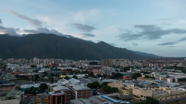 caracas - time lapse of the city of caracas during sunset - venezuela stock videos & royalty-free footage
