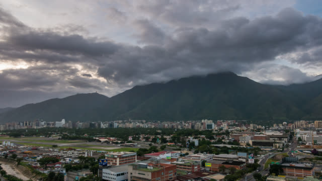 caracas - time lapse of the city of caracas during sunset - caracas stock videos & royalty-free footage