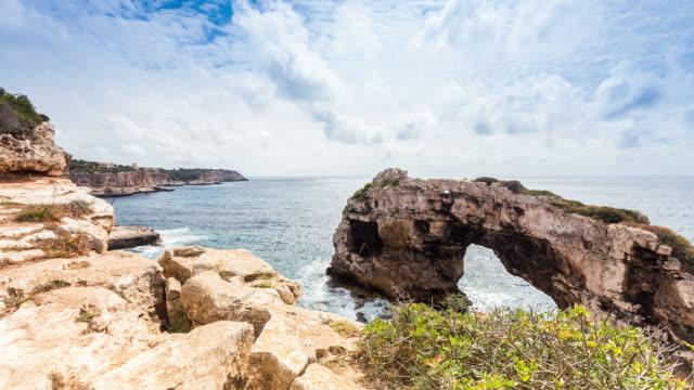 PALMA DE MALLORCA - CIRCA 2013: Time lapse of the Cliffs and the south coast of Palma de Mallorca