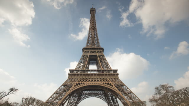Time lapse of the Eiffel tower in Paris