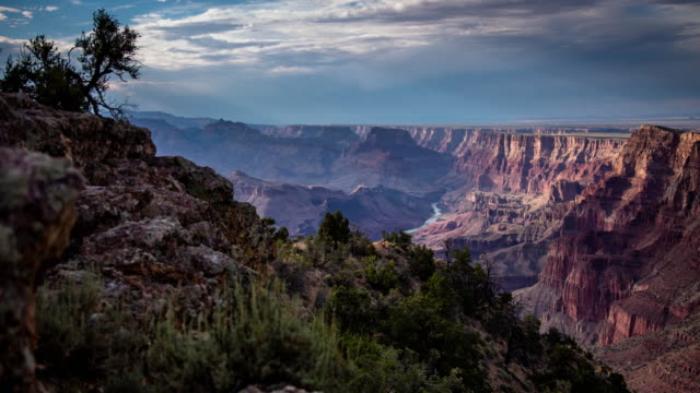 vídeos de stock e filmes b-roll de time lapse of the grand canyon - grand canyon