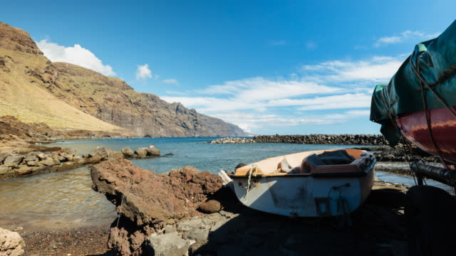 4K Time lapse of the iconic Punta de Teno with the beach, landscape, in Tenerife North, Spain