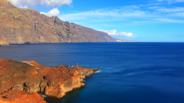 time lapse of the iconic punta de teno with the beach, landscape, in tenerife north, spain - atlantic islands stock videos & royalty-free footage