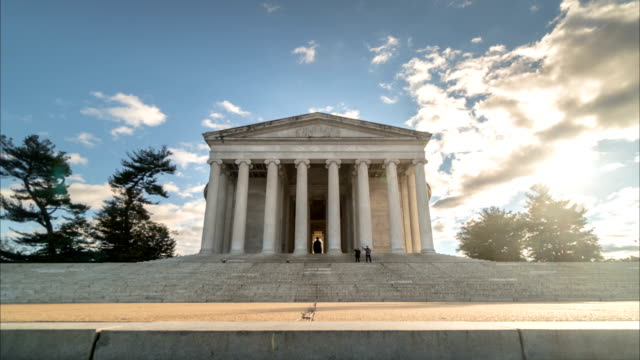 Time lapse of the Jefferson Memorial in Washington DC