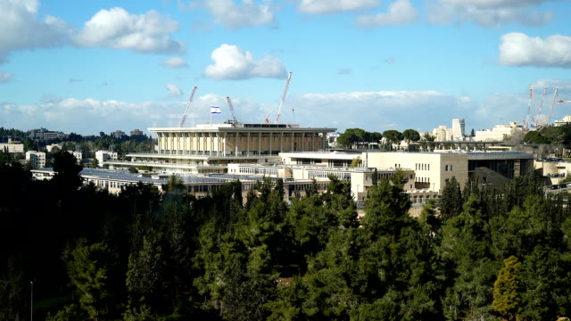 Time lapse of the Knesset Building in Jerusalem