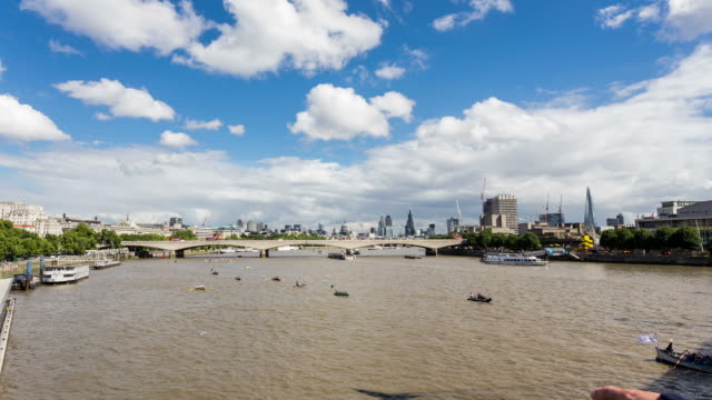 london - circa 2013: time lapse of the london boat race   - 2013 stock videos & royalty-free footage