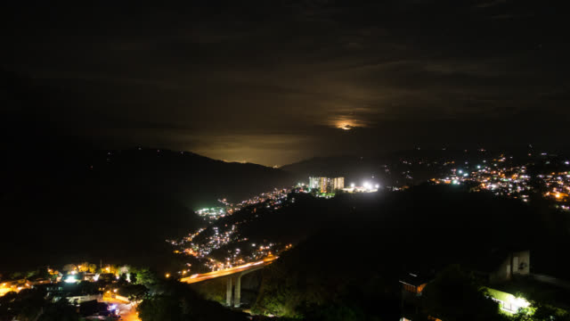 CARACAS - Time Lapse of the Moonrise over Altavista Barrio in Caracas