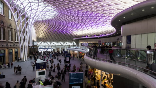 LONDON - CIRCA 2012: Time lapse of the new King's Cross station